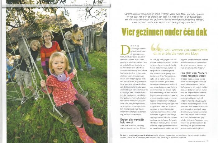 4 gezinnen onder 1 dak (KVLV jg 99, nr 10, 12.2012, pp. 56-63)1