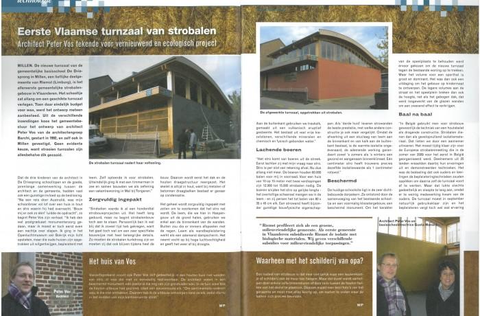 Eerste Vlaamse turnzaal van strobalen (I-mag jaargang 49, no. 2, 02-2011, pp. )